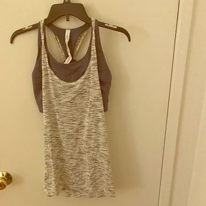 Lululemon tank top with built in bra in a size 8